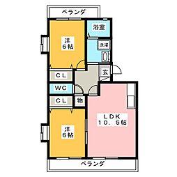 ロワイヤルS弐番館[2階]の間取り