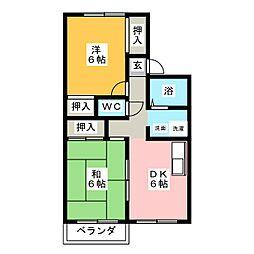 セラタウン弥富 B棟[2階]の間取り