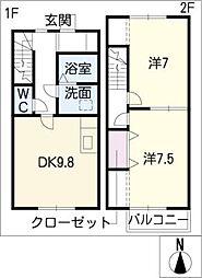 [タウンハウス] 愛知県半田市瑞穂町5丁目 の賃貸【/】の間取り