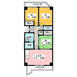 パークハウスYAGUMA[4階]の間取り