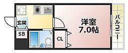 インペリアル六甲道[4階]の間取り