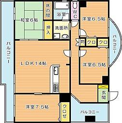 初瀬家第一ビル[3階]の間取り