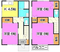 [一戸建] 埼玉県新座市東1丁目 の賃貸【/】の間取り