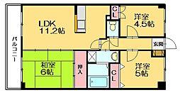 メゾンドセリシエ[4階]の間取り