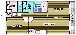 コモドステラ[3階]の間取り