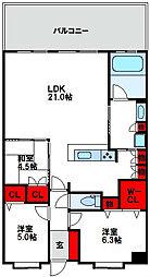 ブリーズマンション福間[4階]の間取り