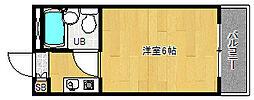 京都府宇治市五ケ庄西浦の賃貸マンションの間取り
