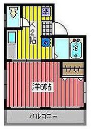 山一領家3丁目ビル[5階]の間取り