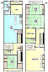 [一戸建] 静岡県富士宮市宮町 の賃貸【/】の間取り