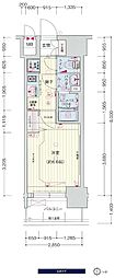 JR大阪環状線 鶴橋駅 徒歩3分の賃貸マンション 10階1Kの間取り