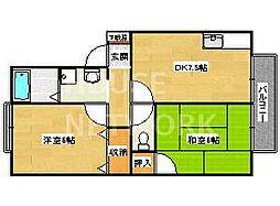 セジュール広沢[102号室号室]の間取り