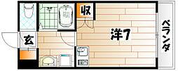 オリエンタル折尾駅[3階]の間取り