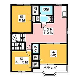 ルナパークA[2階]の間取り
