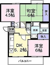 大阪府和泉市池田下町の賃貸マンションの間取り