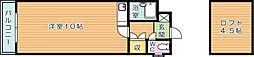 アーバンポート折尾学園都市[4階]の間取り