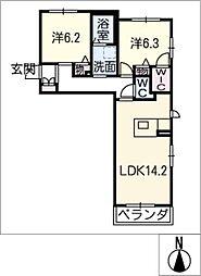 メゾン向陽E[1階]の間取り