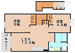 Lウィンズ[1階]の間取り