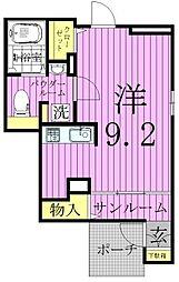 東京都足立区伊興3丁目の賃貸アパートの間取り
