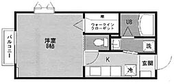 東京都豊島区雑司が谷2丁目の賃貸アパートの間取り