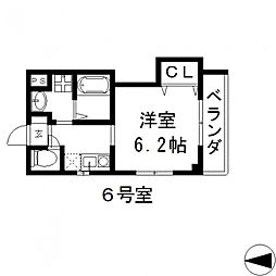 THE ESTATE NAGASE(ジ エステート ナガセ)[206号室号室]の間取り