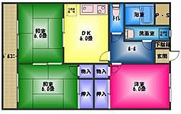 仁栄マンションII[3階]の間取り