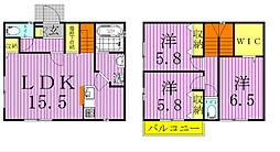 根戸戸建貸家[2階]の間取り