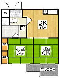セントポーリア太秦[1階]の間取り