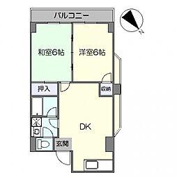 第8西山ビル[206号室号室]の間取り