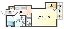 京阪本線 西三荘駅 徒歩10分の賃貸アパート 3階1Kの間取り
