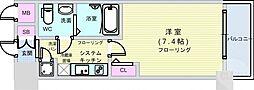 Osaka Metro千日前線 桜川駅 徒歩4分の賃貸マンション 4階1Kの間取り