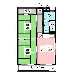 コーポモリタII[3階]の間取り