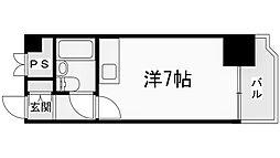 マッセ新大阪ハイツ 新館[601号室]の間取り
