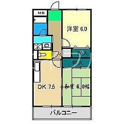 メゾンキタムラ[3階]の間取り