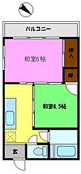 渋谷ハイツ[203号室]の間取り