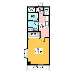 ネオシティー遠見塚[2階]の間取り