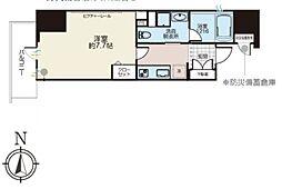 JR総武線 浅草橋駅 徒歩4分の賃貸マンション 7階1Kの間取り