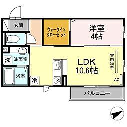 (仮)D-room山本3丁目[2階]の間取り