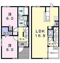 ポートレーゼ津田[1階]の間取り
