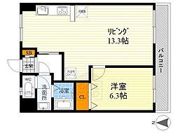 アカツキマンション[6階]の間取り
