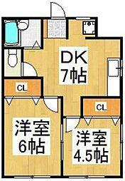 清瀬泉ハイツ[1階]の間取り