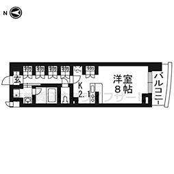 ベラジオ五条堀川1102[11階]の間取り