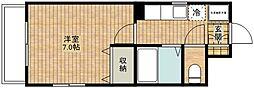 ドミール新城[1階]の間取り