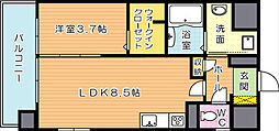 グランドハイツ黒崎[5階]の間取り
