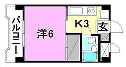 ジョイフルハウス[102 号室号室]の間取り