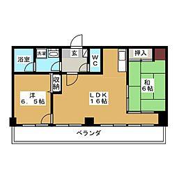 錦ハーモニー[11階]の間取り