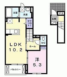 ルミナス[2階]の間取り