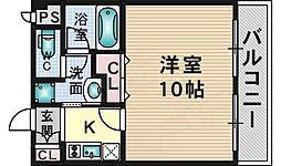 大阪モノレール彩都線 彩都西駅 徒歩7分の賃貸マンション 1階1Kの間取り