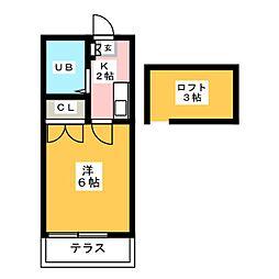 フローレ吉塚[1階]の間取り
