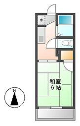 ニュー八芳苑[2階]の間取り