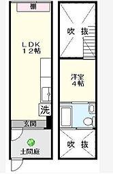 [テラスハウス] 千葉県松戸市八ケ崎7丁目 の賃貸【/】の間取り